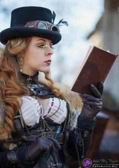 """turner-d-century: """"Steampunk cosplay """" Steampunk Cosplay, Corset Steampunk, Design Steampunk, Style Steampunk, Steampunk Couture, Victorian Steampunk, Steampunk Clothing, Steampunk Fashion, Gothic Fashion"""
