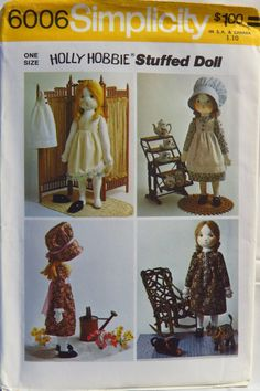 Simplicity 6006 Holly Hobbie Rag Doll and Wardrobe