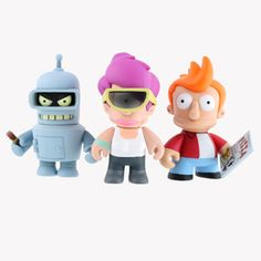 26) In my chase to complete the @kidrobot #SouthPark case- I came across #Futurama! They have two different series and unlike the #Streetfighter one, the main characters got upgraded looks in the 2nd series!