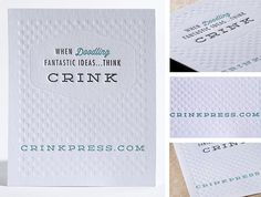 Letterpress Three Color Marketing Piece Insert www.crinkpress.com