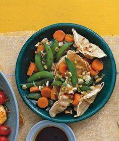 Pot Sticker Salad With Snap Peas recipe
