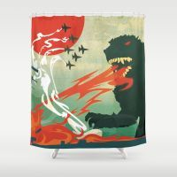 Shower Curtain featuring Tokyo Or Bust by Alex Craig