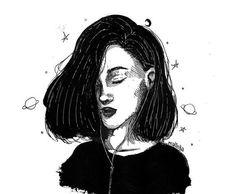 art, b&w, black, deep, drawing