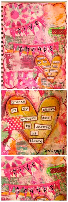 Grateful: Mixed Media Journal Page