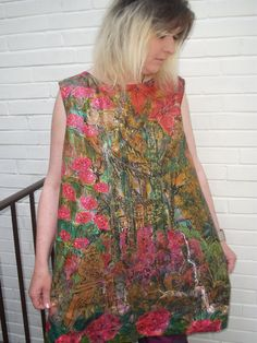 Buy handpainted silk top size XL by aminamarei. Explore more products on http://aminamarei.etsy.com