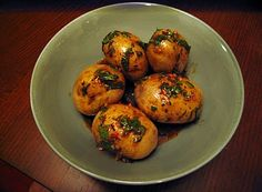 Canarian wrinkly potatoes.