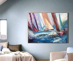 Sea abstract painting blue abstract sailing painting Sailboat painting canvas landscape painting on canvas sail boat race abstract sailboat Blue Abstract, Abstract Canvas, Canvas Wall Art, Canvas Painting Landscape, Oil Painting On Canvas, Acrylic Paintings, Sailboat Art, Sailboat Painting, Your Paintings