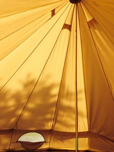 Amazing light and height in a bell tent.