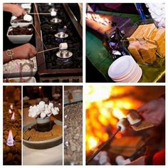 smores bar 'Join us for a toast'