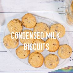 How to cook Condensed Milk Biscuits Condensed Milk Biscuits, Condensed Milk Cookies, Condensed Milk Desserts, Easy Cookie Recipes, Sweet Recipes, Baking Recipes, Easy To Cook Recipes, Dessert Recipes, Nutella Cookies
