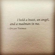 a beast, an angel & a madman