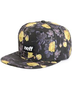 Keep your hat game from going stale with a stylish purple and yellow floral  print with eb35f0ef44ed