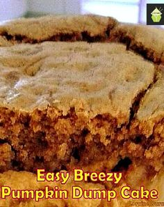 Easy Breezy Pumpkin Dump Cake - Recipes for regular and lite versions. You choose! #cake #pumpkin #easyrecipe