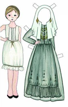 Bonecas de papel   10 trajes tradicionais