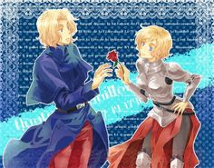 Day 22 - Another one of my OTPs : That would be France x Joan/Jeanne of Arc. Such a sweet pairing but tragic ending :'(
