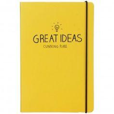 Happy Jackson Great Ideas notitieboek A5. Goed idee notebook, journal, geel, yellow.