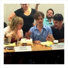 Criminal Minds Feed: 1101 Table Read; Happy Birthday Kirsten! <<< HOTCH HAS A MUSTACHE!!! I don't like it.....