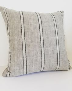 A personal favorite from my Etsy shop https://www.etsy.com/listing/460649540/gray-pillow-cover-nautical-pillow-gray
