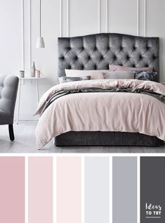 bedroom color ideas,color inspiration,blush and grey color inspiration , pretty collection of color palettes,grey and blush color schemes,color inspiration,color palette,color schemes,home color palettes,home painting color ideas