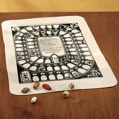 I really like the cloth gameboard for packing, but having a wooden board is nice if you don't have a table.  The Royal & Most Pleasant Game of Goose