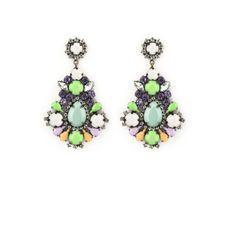 Orecchino MAGNOLIA variante VERDE ACQUA Drop Earrings, Jewelry, Green, Jewerly, Jewlery, Schmuck, Drop Earring, Jewels, Jewelery