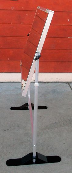 """$350.00 Instructional Easel Mirror by Stanrite #917 Used Model: 917 Dimensions: Mirror: 36.5""""W x 24.5""""H Frame-Stand: 40.25""""H Up for sale is a beautiful instructional mirror on a crossbar, that has a white board on the back, it flips over for easy access. By Testrite visual products. #mirror #chef #instruction #cookingclasses #foodie #reciepes #teaching"""