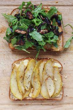 Pear, Blue Cheese, & Caramelized Onion Panini