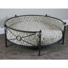 iron pet beds round | Dog Beds That Look Like Human Beds