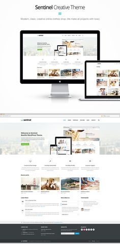 Sentinel - Responsive Multi-Purpose Theme by WebLionMedia, via Behance