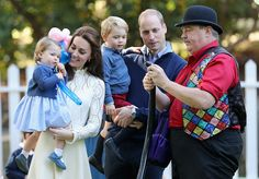 Charlotte and Prince George had fun at the party in Victoria.