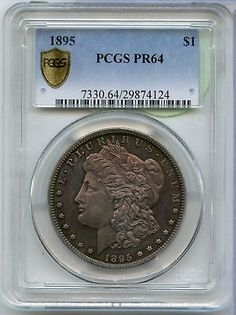1895-P Morgan Silver $1 Dollar PCGS PR 64 Certifed Proof Toned Coin - JX564