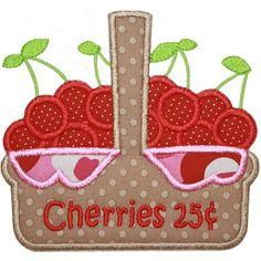 Cherry Basket Applique