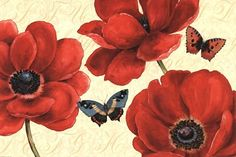 Petals and Wings on Beige I by Daphne Brissonnet