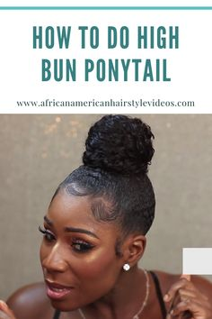 Updo & Bun Hairstyles · Step 1: Add some texture · Step 2: Brush away · Step 3: Create a ponytail · Step 4: Wrap it up Natural Hair Ponytail, Ponytail Hair Piece, Curly Hair Ponytail, Ponytail Wrap, Sleek Ponytail, Prom Hairstyles, Ponytail Hairstyles, Updo, Black Girl Ponytails