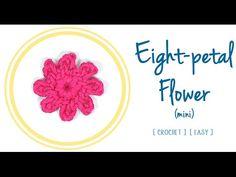 Eight-Petal #Flower in #Crochet (mini) | #PatronesValhallaENG