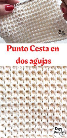 Soy Woolly, Knitting Stitches, Unisex, Diy, Pink, Knitting, Beginner Knitting, Knit Basket, Needlepoint