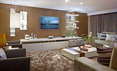 tapete felpudo em fios de seda é ideal para salas de tv, onde a prioridade é o aconchego e a absorsão do  som.