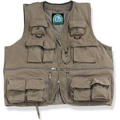 Master Sportsman Alpine 27-Pocket Mesh Back Fishing Vest, Olive