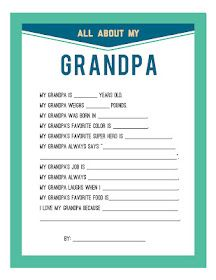 Fathers Day Printable for Dad and Grandpa