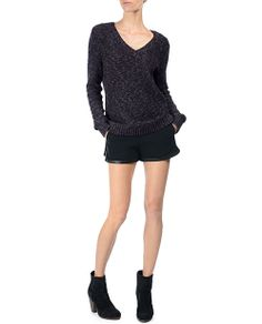 rag & bone Official Store, Jackie Pullover, eggplant fl, Womens : Sale : Sweaters, W235626KC