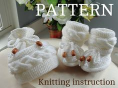 P A T T E R N  Knitting Baby Set Baby Shoes Knitted di Solnishko43