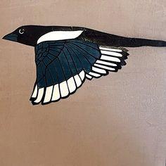 "Magpie by Dylan Metrano Papercutting Woodblock Original Art 8""x8"" Paula Estey Gallery http://www.amazon.com/dp/B0189OXWWQ/ref=cm_sw_r_pi_dp_yU-Jwb0Q0P4W9"