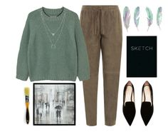 """""""Outfit #139"""" by jordancydney ❤ liked on Polyvore featuring Joseph, MANGO, Nicholas Kirkwood, Leftbank Art and Piccadilly"""