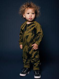 Mainio Clothing AW15 - Baby overall Okabi - Olive-black