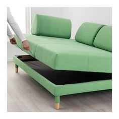 FLOTTEBO Rozkladacia pohovka, Lysed zelená - 120 cm - IKEA