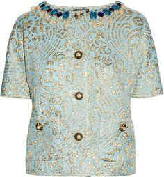 Dolce & Gabbana Jewel embellished Silk blend Jacquard Jacket    dressmesweetiedarling