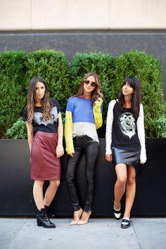 Camisetas y piel. #IdeasenOrden #moda #closets