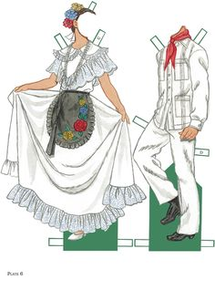 Mexican Folk Dance Paper Dolls, Join The Fiesta of traditional Mexican Costumes!