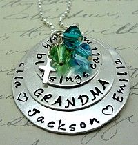 My Blessings Call Me Grandma Nana Mom Sterling Stamped Personalized Necklace - laughing simple Spiritual Jewelry, Religious Jewelry, Sterling Necklaces, Sterling Silver Bracelets, Mom And Grandma, Call My Mom, Personalized Necklace, Bracelet Set, Custom Jewelry