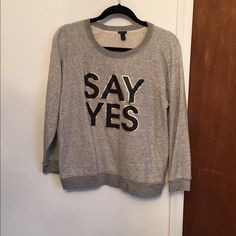 J crew sweatshirt J. Crew sweatshirt. Worn once or twice and in great condition! J. Crew Tops Sweatshirts & Hoodies